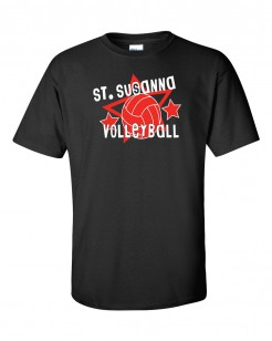 Black Volleyball T-Shirt