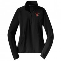Ladies quarter zip black