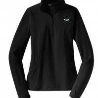 track and field ladies half zip