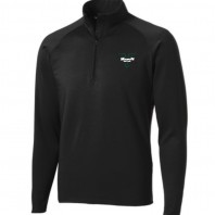track and field mens half zip black