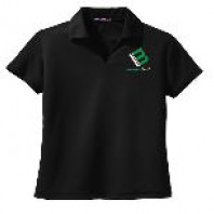 woman polo black